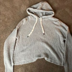 American Eagle cropped sweater hoodie
